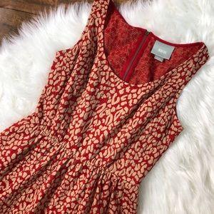 Anthropologie Maeve Caldera Leopard Dress